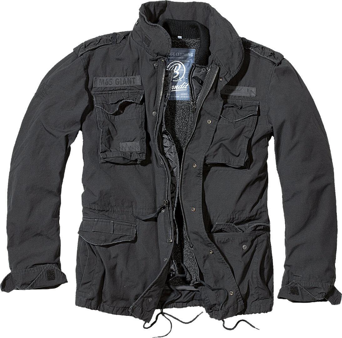 Brandit M-65 Giant Jacke, schwarz-grau, Größe S, schwarz-grau, Größe S