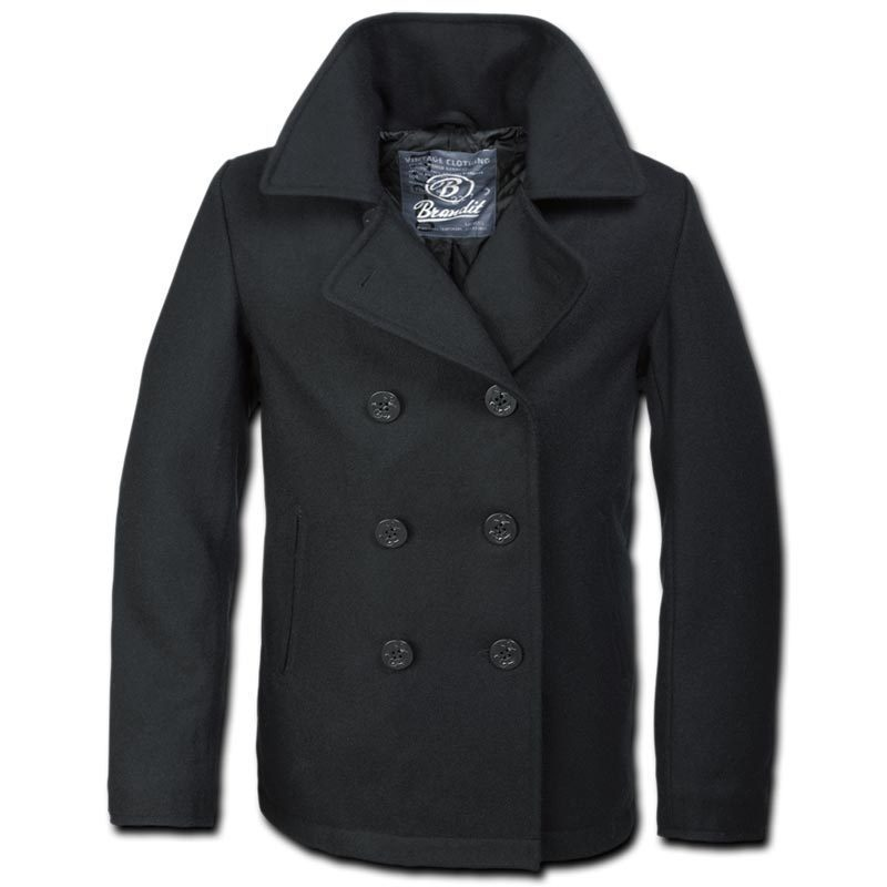 Brandit Pea Coat Jacke, schwarz, Größe 4XL, schwarz, Größe 4XL
