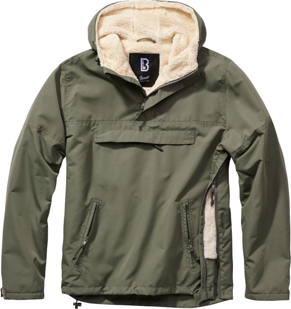 Brandit Windbreaker Sherpa Jacke, grün, Größe 4XL, grün, Größe 4XL