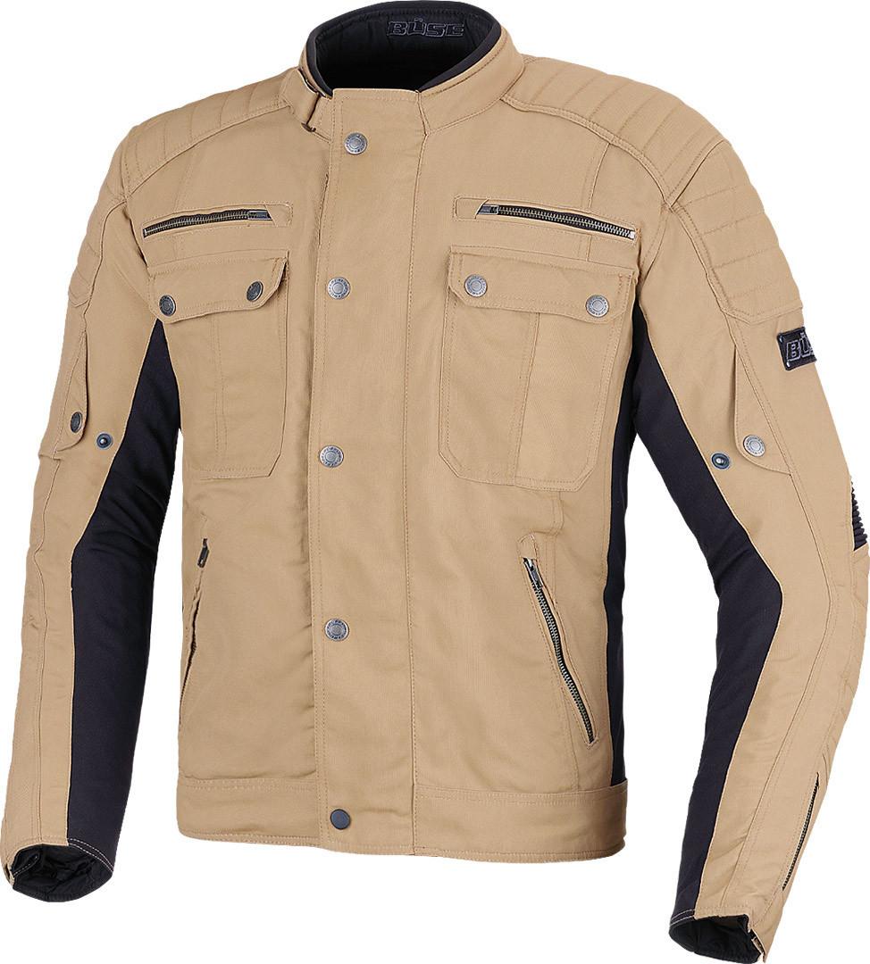 Büse Carson Motorrad Textiljacke, schwarz-beige, Größe L, schwarz-beige, Größe L