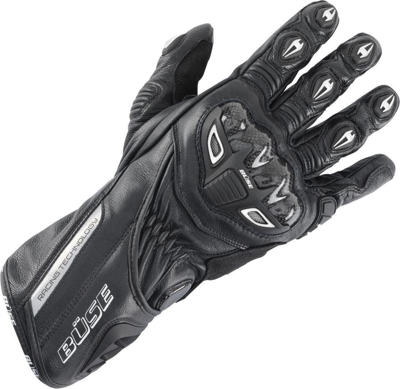 Büse Donington Pro Motorradhandschuhe, schwarz, Größe M L, schwarz, Größe M L