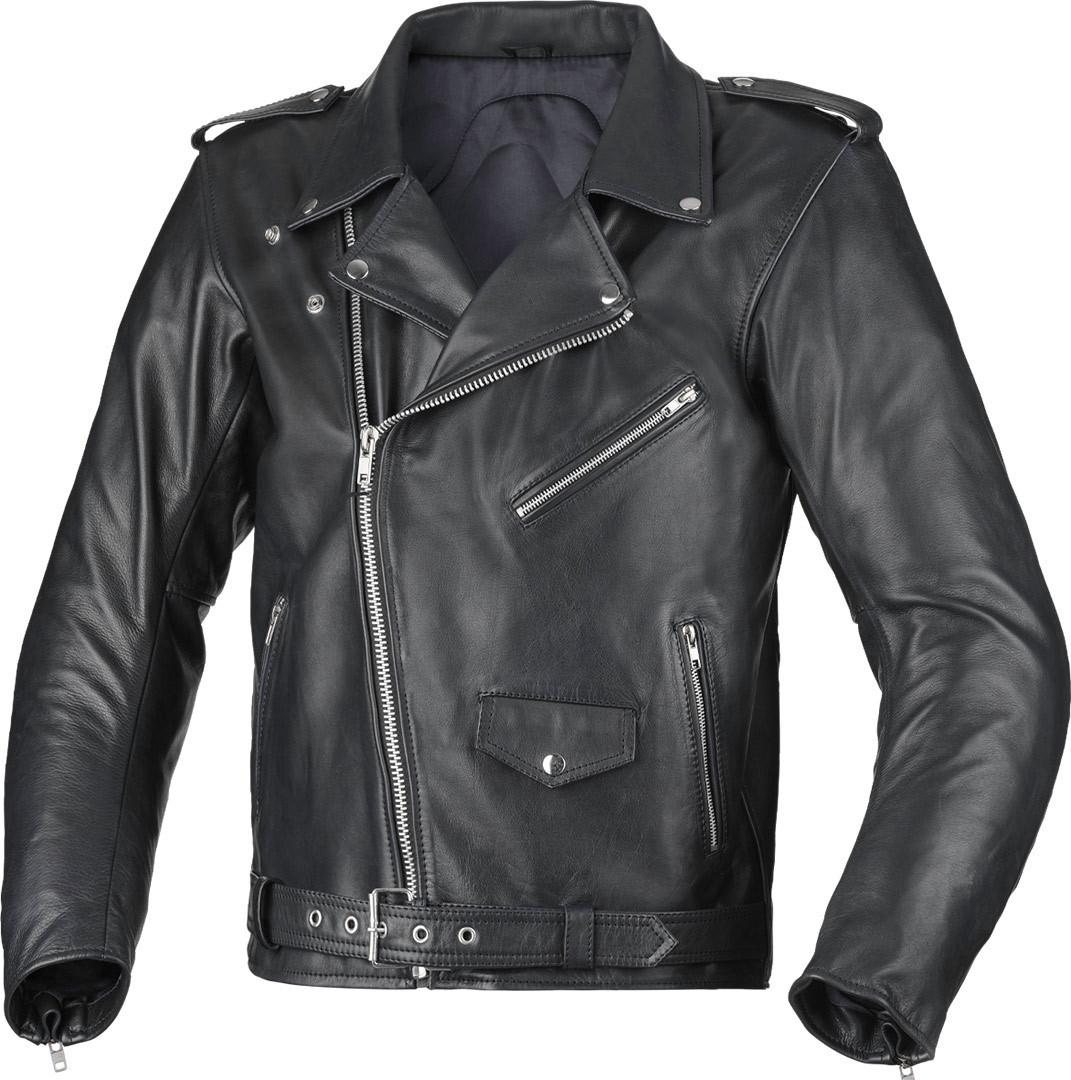 Büse Lancaster Motorrad Lederjacke, schwarz, Größe 48, schwarz, Größe 48