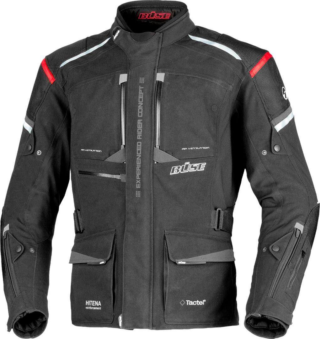 Büse Nova Motorrad Textiljacke, schwarz-rot, Größe 54, schwarz-rot, Größe 54