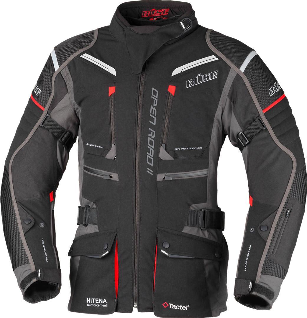 Büse Open Road II Damen Motorrad Textiljacke, schwarz, Größe 50, schwarz, Größe 50
