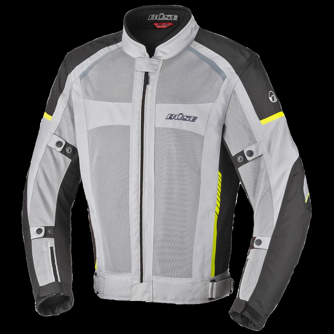 Büse Santerno Motorrad Textiljacke, grau, Größe S, grau, Größe S
