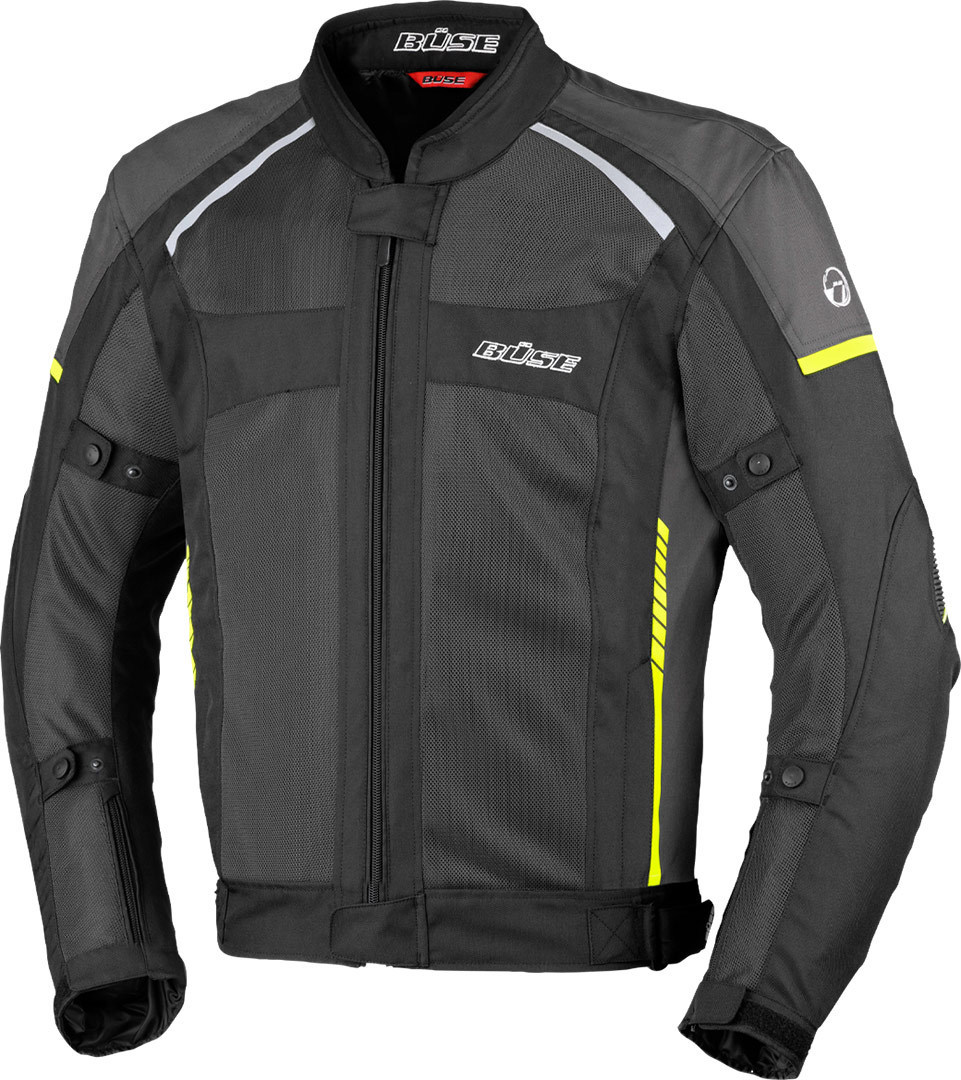 Büse Santerno Motorrad Textiljacke, schwarz, Größe 4XL, schwarz, Größe 4XL