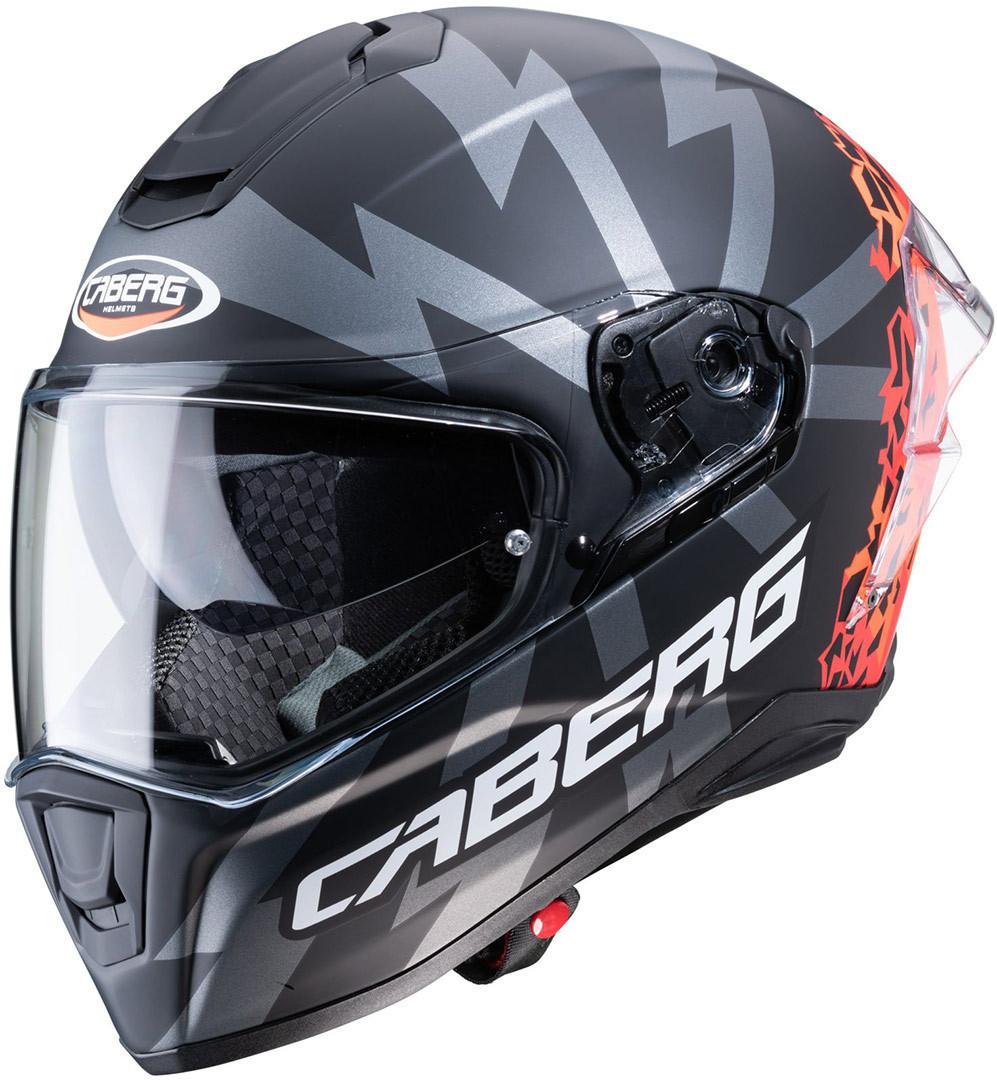 Caberg Drift Evo Storm Helm, schwarz-rot, Größe XS, schwarz-rot, Größe XS