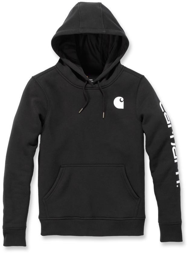 Carhartt Clarksburg Logo Damen Hoodie, schwarz, Größe S, schwarz, Größe S
