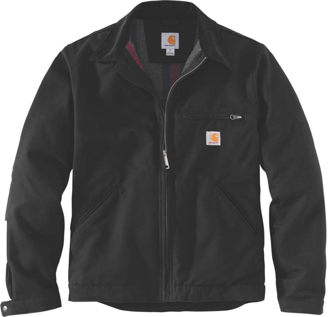 Carhartt Duck Detroit Jacke, schwarz, Größe M, schwarz, Größe M