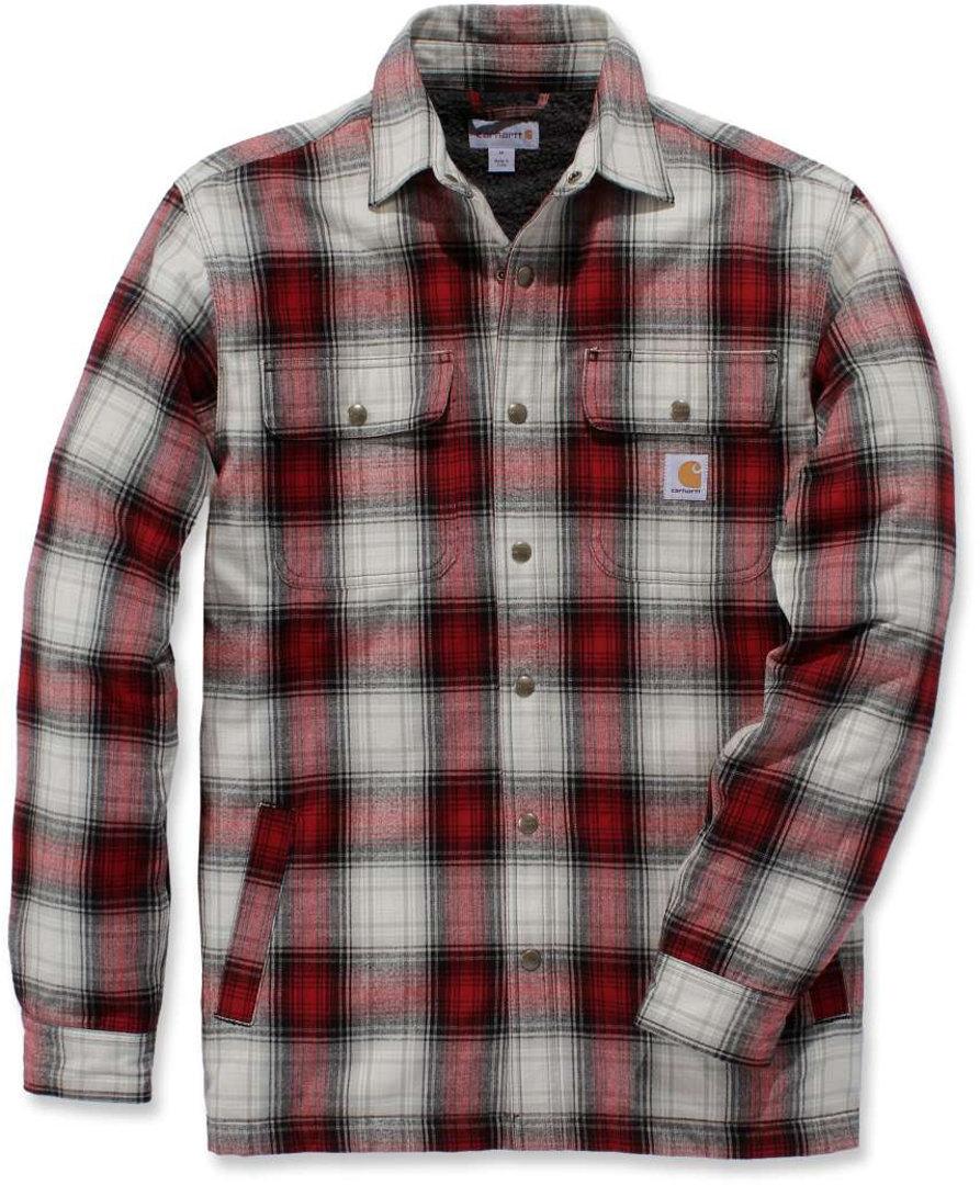 Carhartt Hubbard Sherpa Lined Hemd, rot, Größe XL, rot, Größe XL