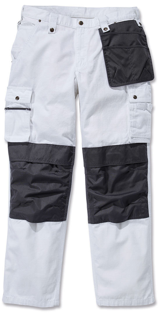 Carhartt Multi Pocket Ripstop Hose, weiss, Größe 38, weiss, Größe 38