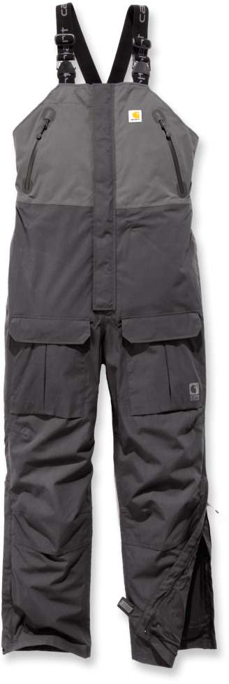 Carhartt Storm Defender Angler Latzhose, schwarz-grau, Größe S, schwarz-grau, Größe S