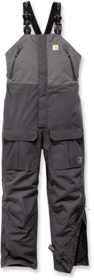 Carhartt Storm Defender Angler Latzhose, schwarz-grau, Größe XL, schwarz-grau, Größe XL