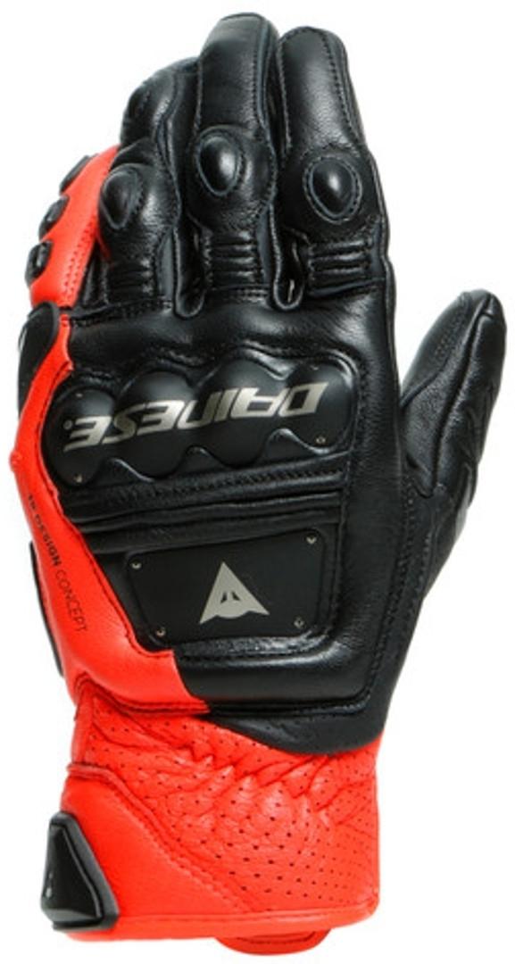 Dainese 4 Stroke 2 Motorradhandschuhe, schwarz-rot, Größe L, schwarz-rot, Größe L