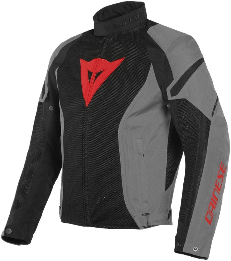 Dainese Air Crono 2 Tex Motorrad Textiljacke, schwarz-grau, Größe 52, schwarz-grau, Größe 52