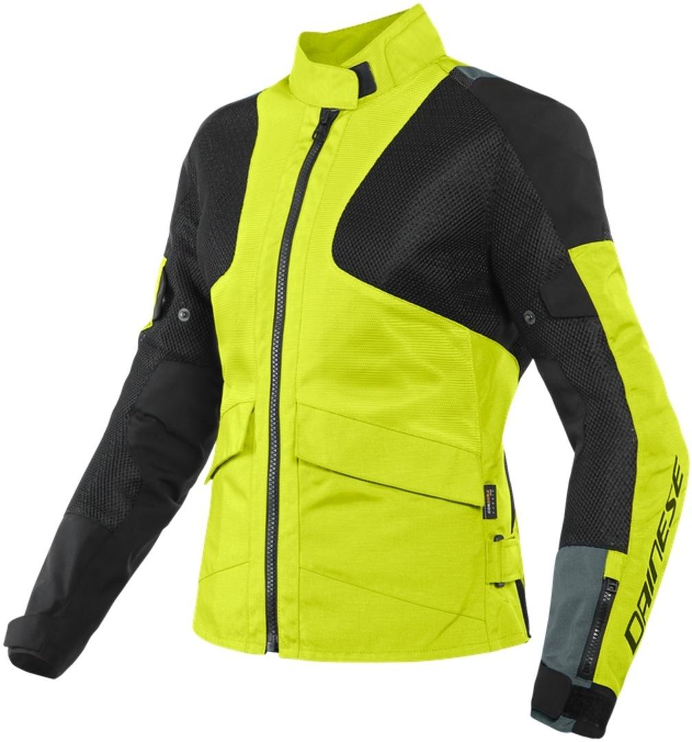 Dainese Air Tourer Damen Motorrad Textiljacke, schwarz-gelb, Größe 38, schwarz-gelb, Größe 38