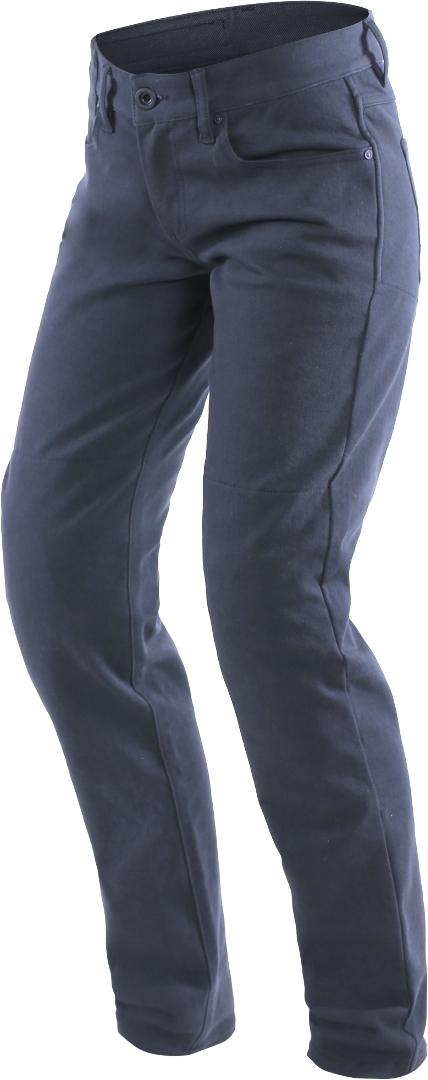 Dainese Casual Slim Damen Motorrad Textilhose, blau, Größe 28, blau, Größe 28