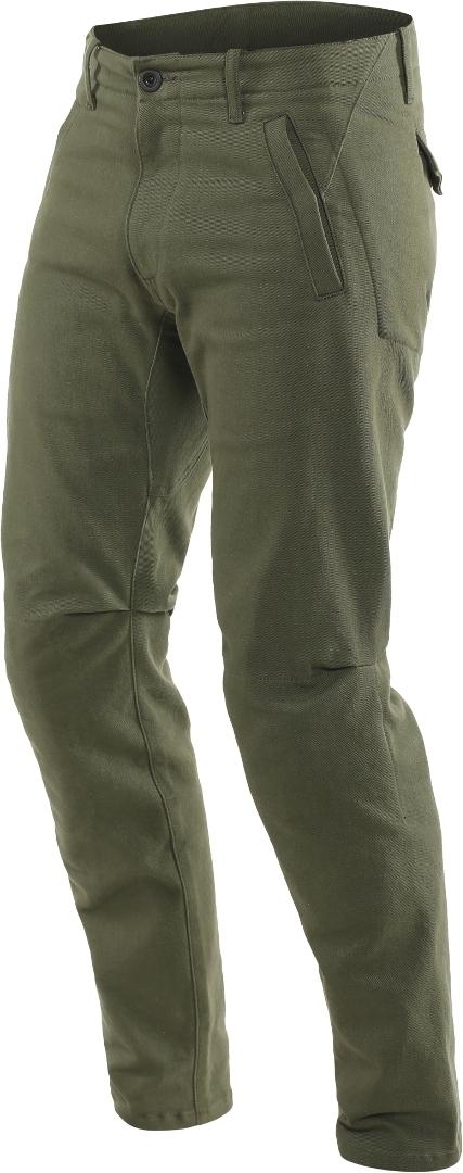 Dainese Chinos Motorrad Textilhose, grün, Größe 36, grün, Größe 36