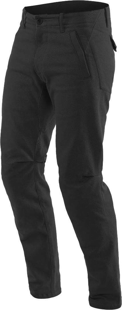 Dainese Chinos Motorrad Textilhose, schwarz, Größe 34, schwarz, Größe 34