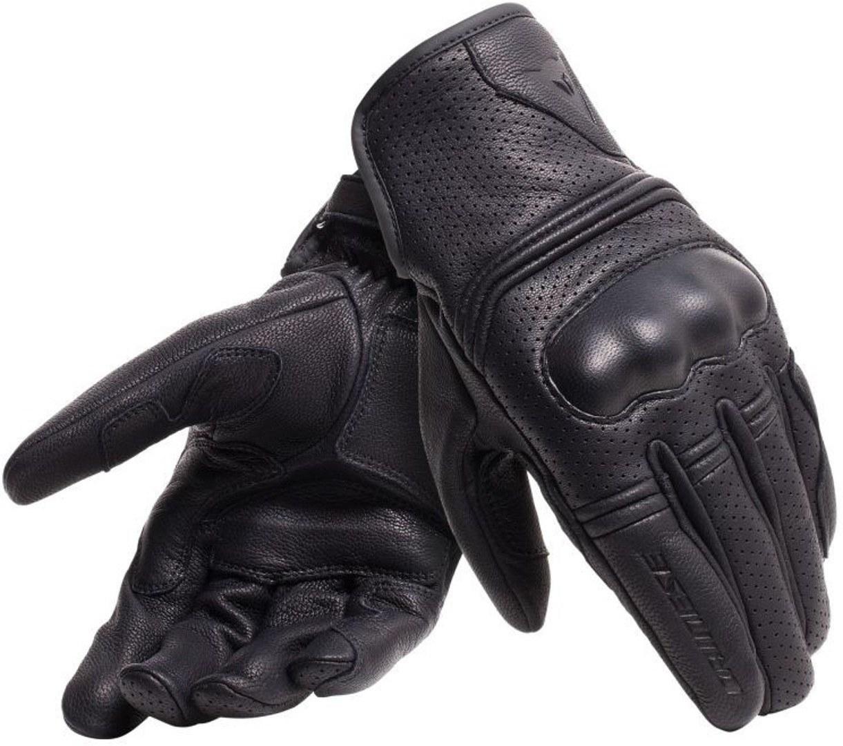 Dainese Corbin Air Unisex Motorradhandschuhe, schwarz, Größe S, schwarz, Größe S