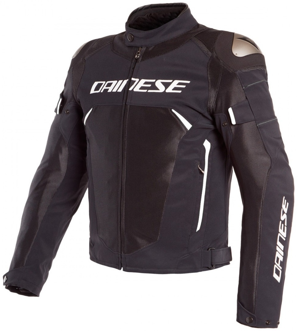 Dainese Dinamica Air D-Dry Motorrad Textiljacke, schwarz-weiss, Größe 56, schwarz-weiss, Größe 56