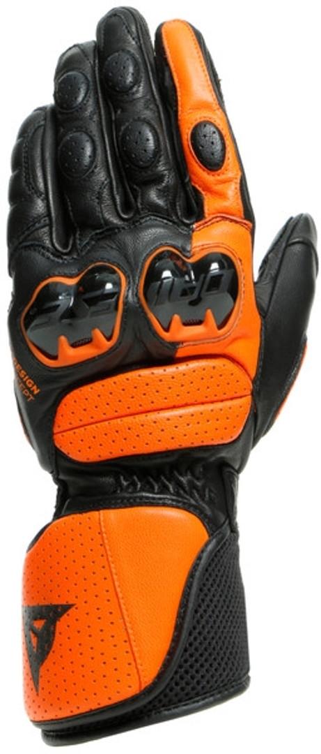 Dainese Impeto Motorradhandschuhe, schwarz-orange, Größe S, schwarz-orange, Größe S