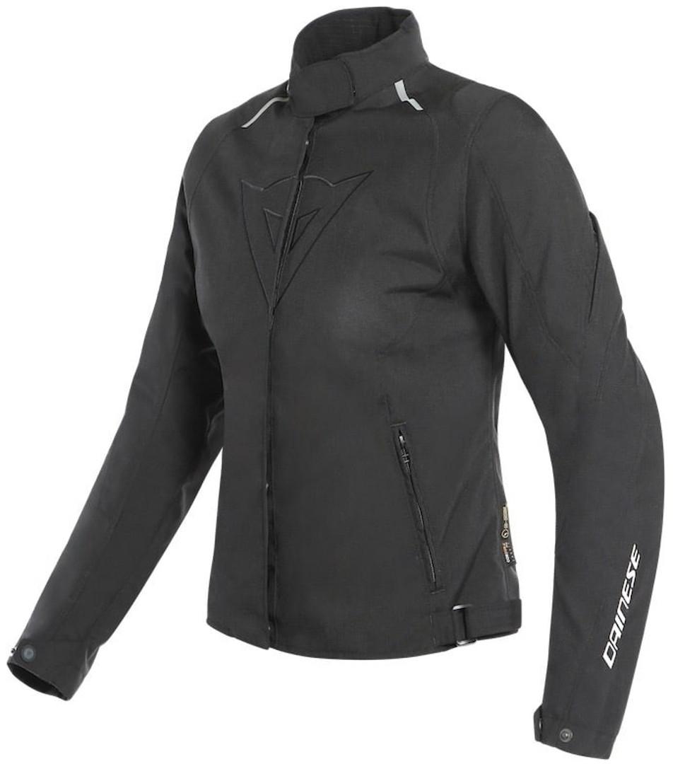 Dainese Laguna Seca 3 D-Dry Damen Motorrad Textiljacke, schwarz, Größe 38, schwarz, Größe 38
