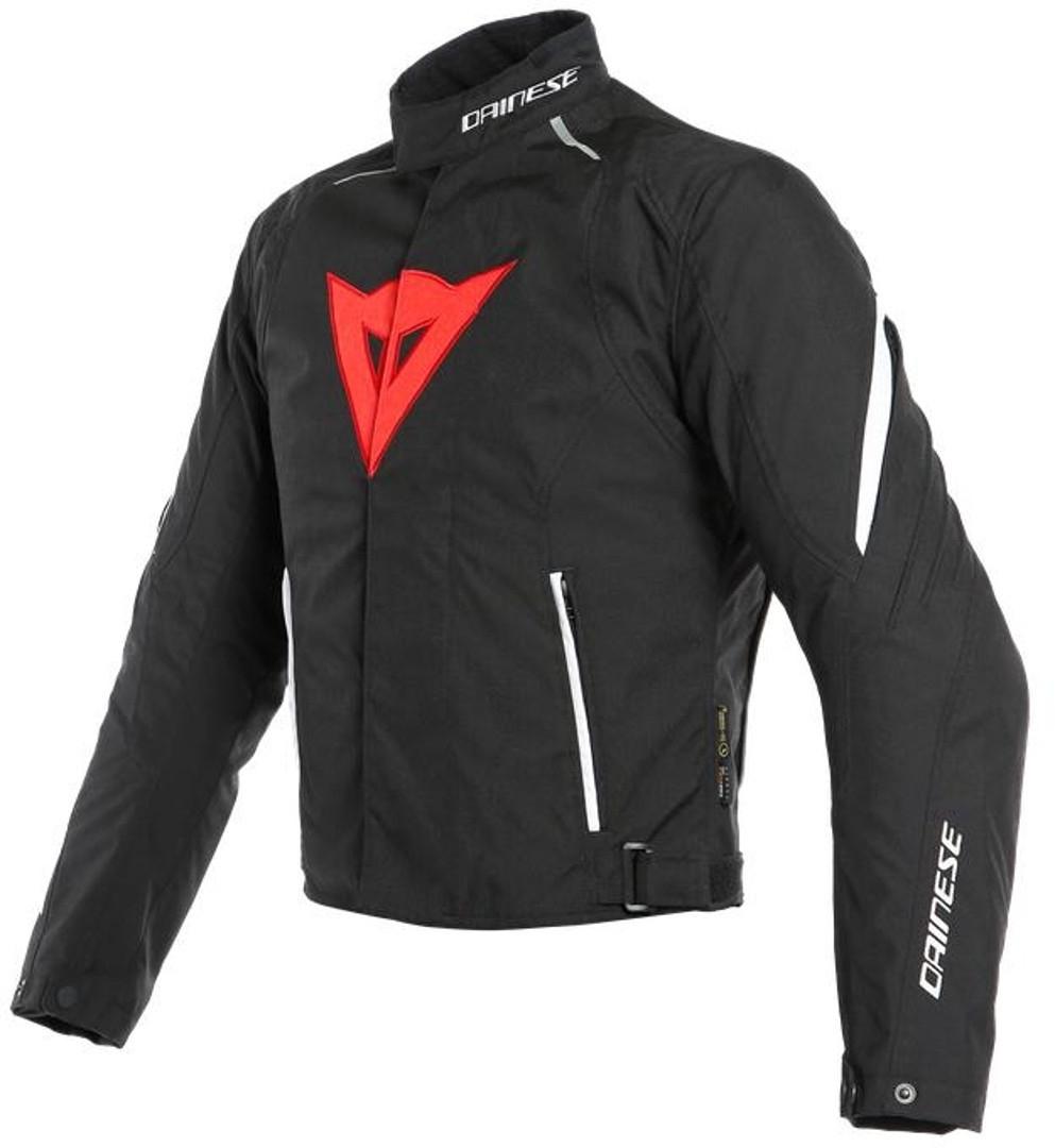 Dainese Laguna Seca 3 D-Dry Motorrad Textiljacke, schwarz-weiss-rot, Größe 58, schwarz-weiss-rot, Größe 58