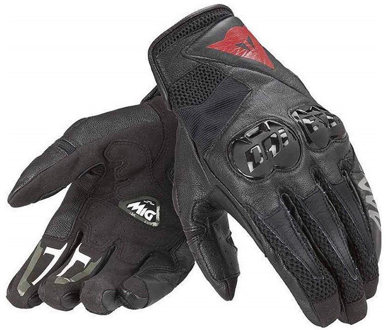 Dainese Mig C2 Motorradhandschuhe, schwarz, Größe L, schwarz, Größe L
