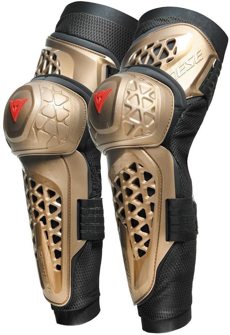 Dainese MX1 Knee Guard Knieprotektoren, schwarz-gelb, Größe S, schwarz-gelb, Größe S