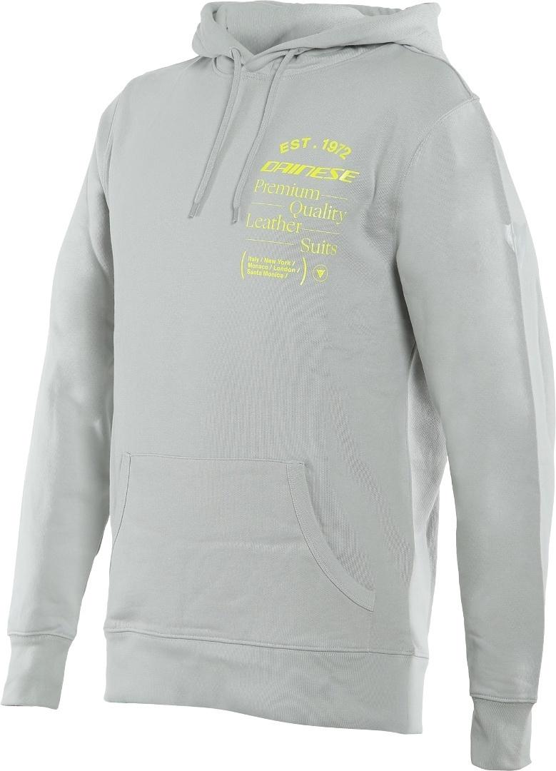 Dainese Paddock Hoodie, grau-gelb, Größe 2XL, grau-gelb, Größe 2XL