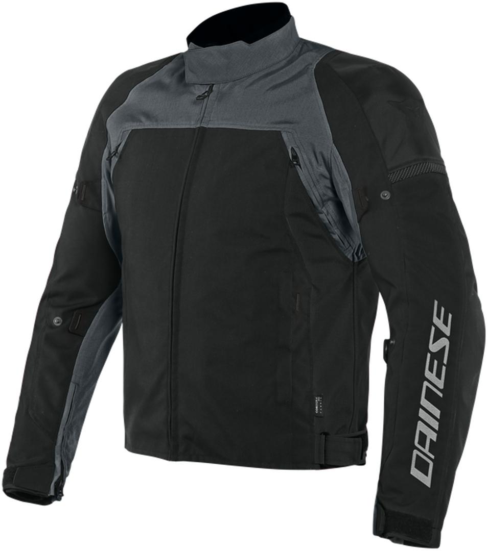 Dainese Speed Master D-Dry Motorrad Textiljacke, schwarz-grau, Größe 44, schwarz-grau, Größe 44