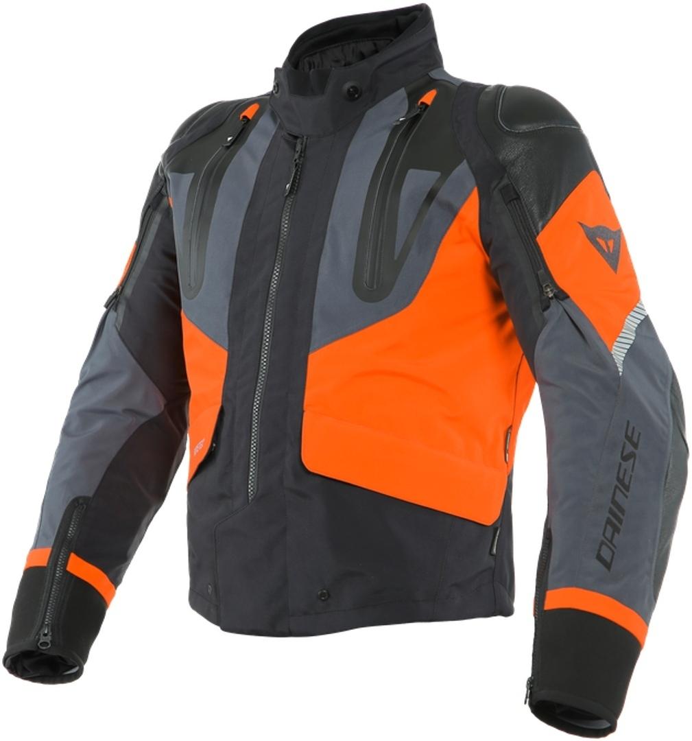Dainese Sport Master Gore-Tex Motorrad Textiljacke, schwarz-grau-orange, Größe 50, schwarz-grau-orange, Größe 50