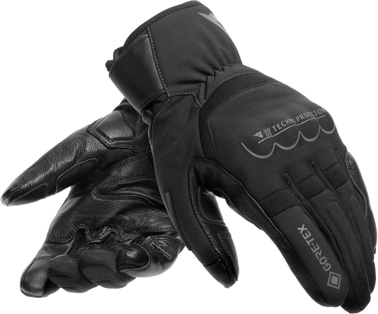 Dainese Thunder Gore-Tex wasserdichte Motorradhandschuhe, schwarz-grau, Größe M, schwarz-grau, Größe M