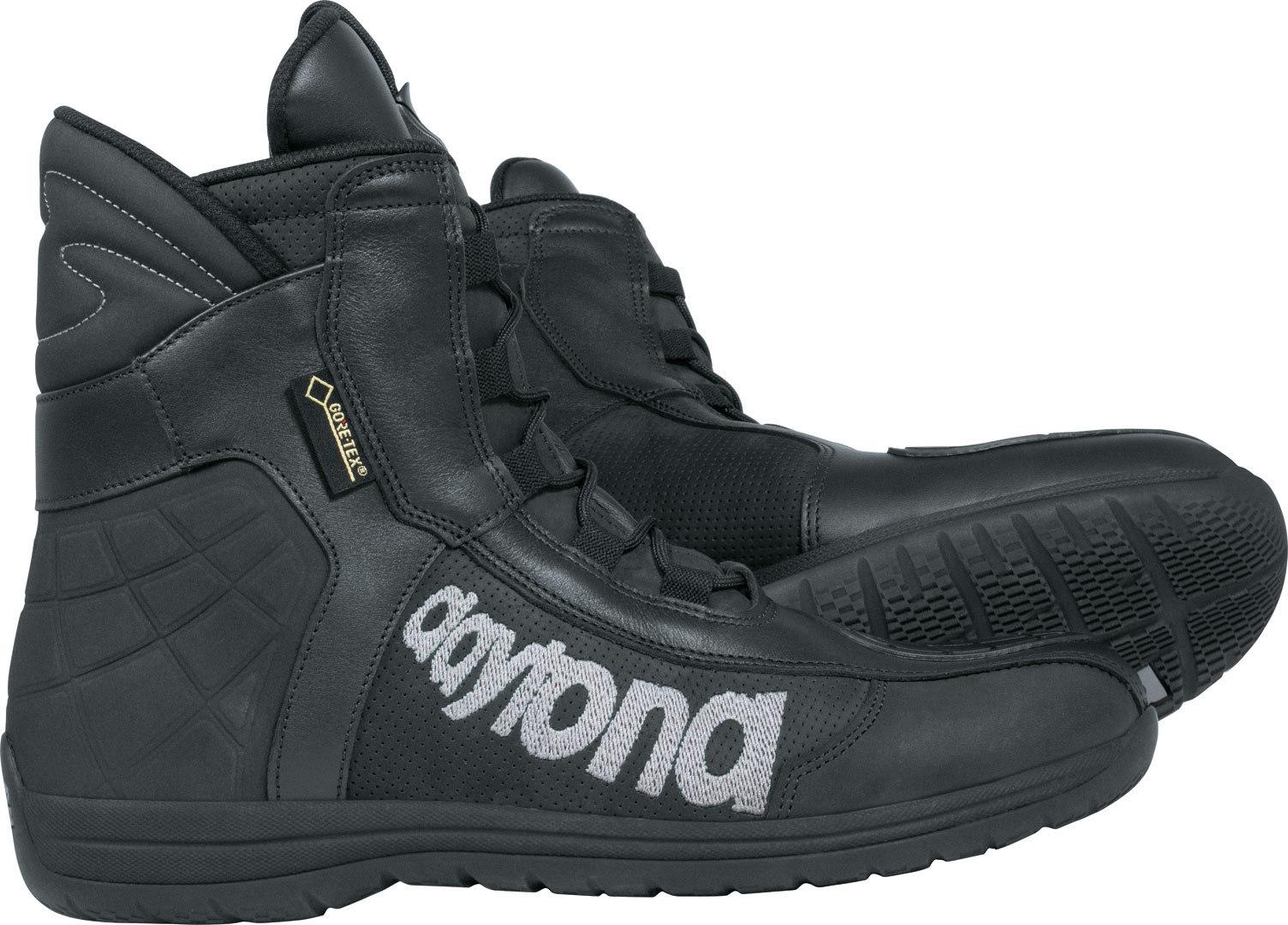 Daytona AC Dry GTX Gore-Tex wasserdichte Motorradstiefel, schwarz, Größe 43, schwarz, Größe 43