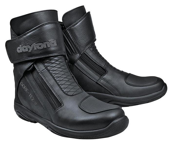 Daytona Arrow Sport GTX Gore-Tex wasserdichte Motorradstiefel, schwarz, Größe 43, schwarz, Größe 43