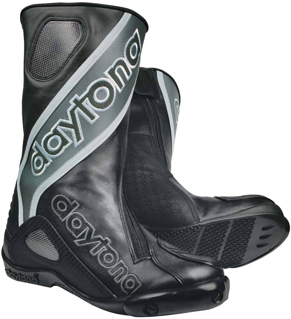 Daytona Evo-Sports GTX Gore-Tex wasserdichte Motorradstiefel, schwarz-grau, Größe 45, schwarz-grau, Größe 45