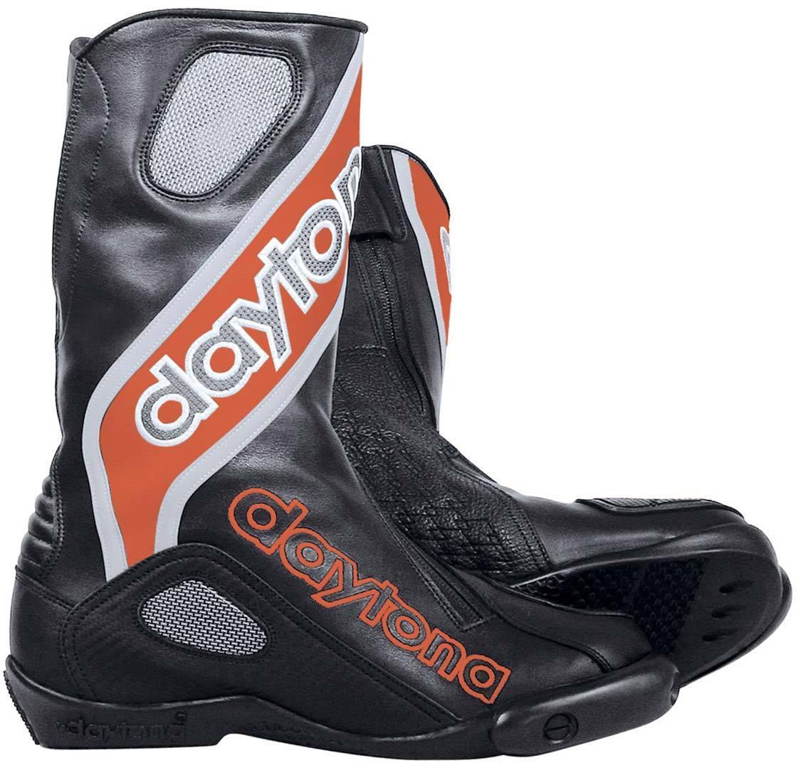 Daytona Evo-Sports GTX Gore-Tex wasserdichte Motorradstiefel, schwarz-rot, Größe 43, schwarz-rot, Größe 43