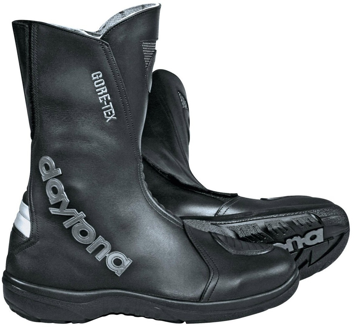 Daytona Nonstop GTX Gore-Tex wasserdichte Motorradstiefel, schwarz, Größe 47, schwarz, Größe 47