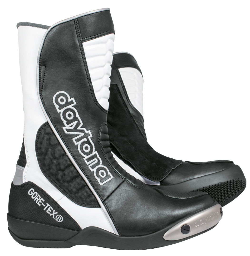 Daytona Strive GTX Gore-Tex wasserdichte Motorradstiefel, schwarz-weiss, Größe 38, schwarz-weiss, Größe 38