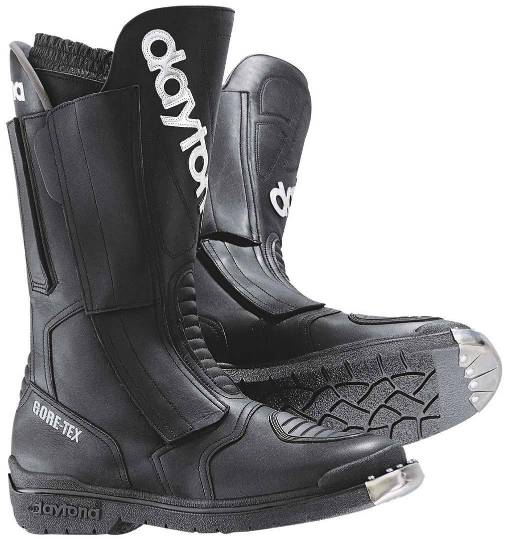 Daytona Trans Open GTX Gore-Tex wasserdichte Motorradstiefel, schwarz, Größe 42, schwarz, Größe 42
