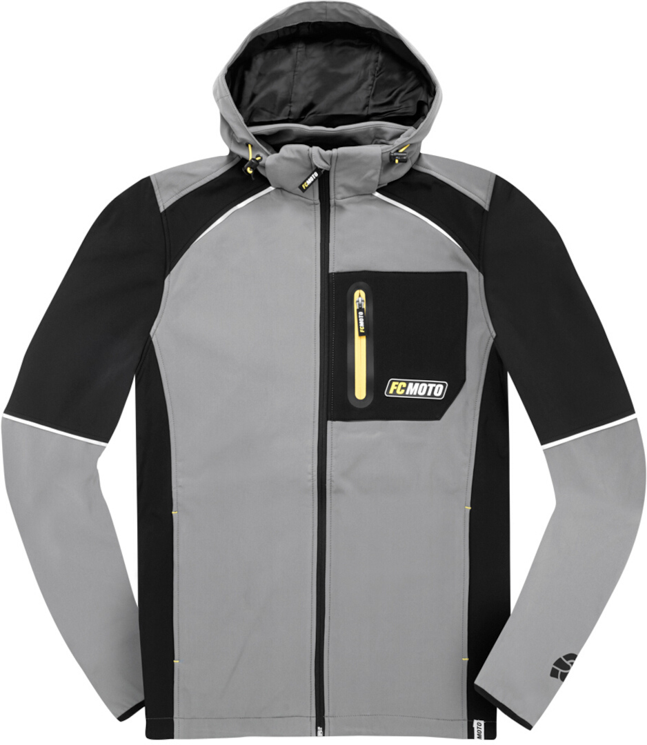 FC-Moto FCM-SSJ Softshell Jacke, schwarz-grau, Größe S, schwarz-grau, Größe S