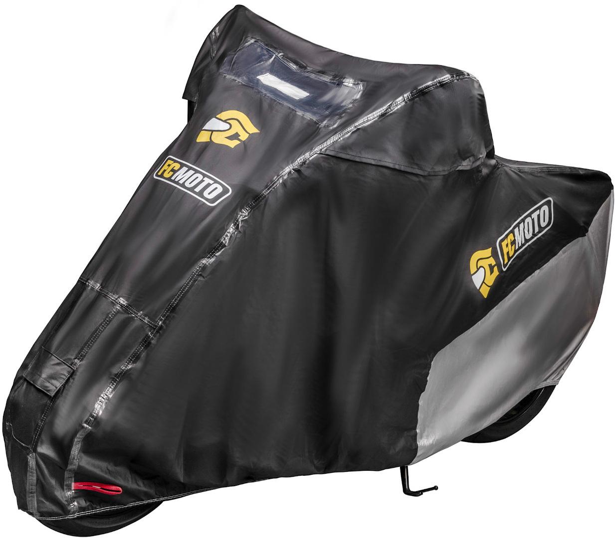 FC-Moto Premium Motorrad Abdeckplane, schwarz, Größe M, schwarz, Größe M
