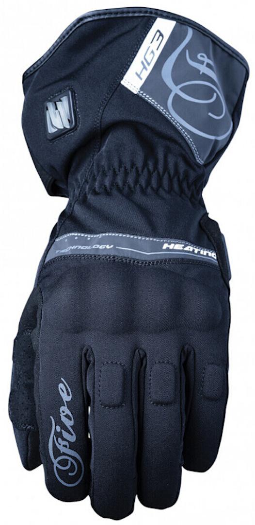 Five HG3 Damen beheizbare Motorradhandschuhe, schwarz-grau, Größe M, schwarz-grau, Größe M