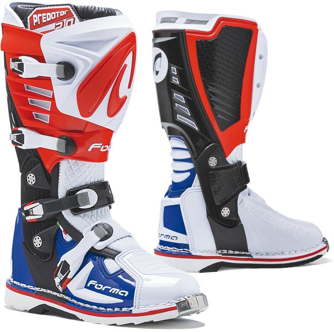 Forma Predator 2.0 Motocross Stiefel, weiss-rot-blau, Größe 46, weiss-rot-blau, Größe 46