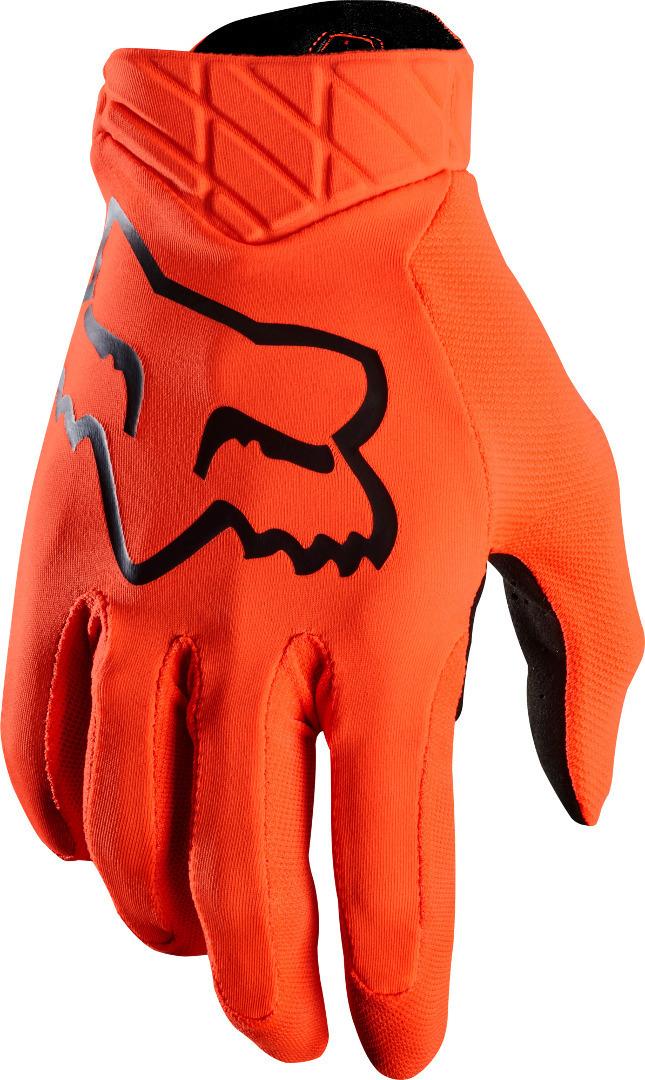 FOX Airline Motocross Handschuhe, schwarz-orange, Größe M, schwarz-orange, Größe M