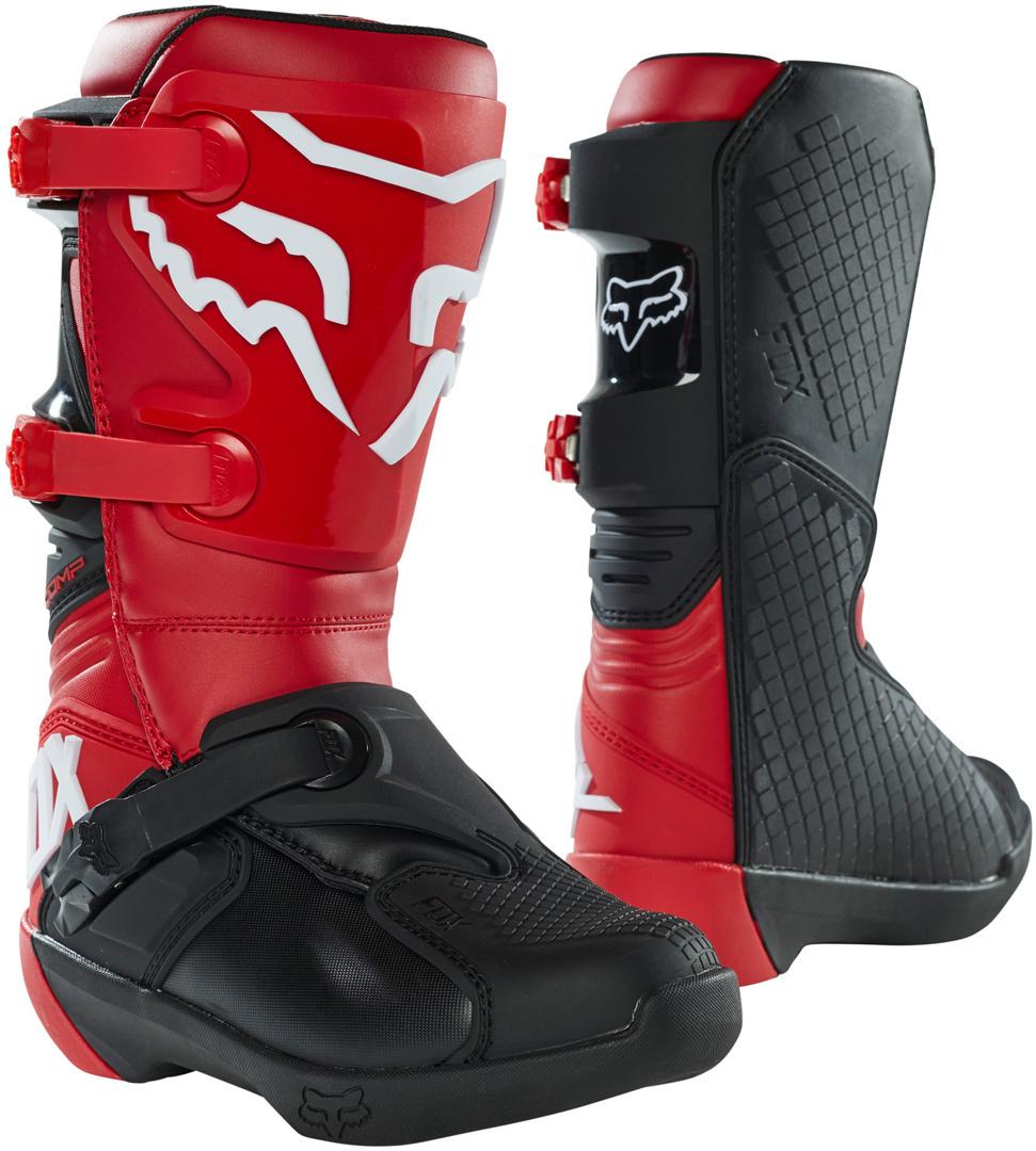 FOX Comp Jugend Motocross Stiefel, rot, Größe 32 33, rot, Größe 32 33