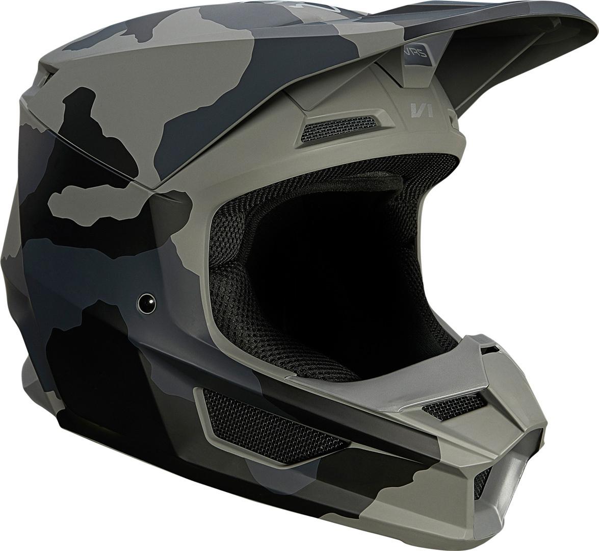 FOX V1 Trev Jugend Motocross Helm, schwarz, Größe M, schwarz, Größe M