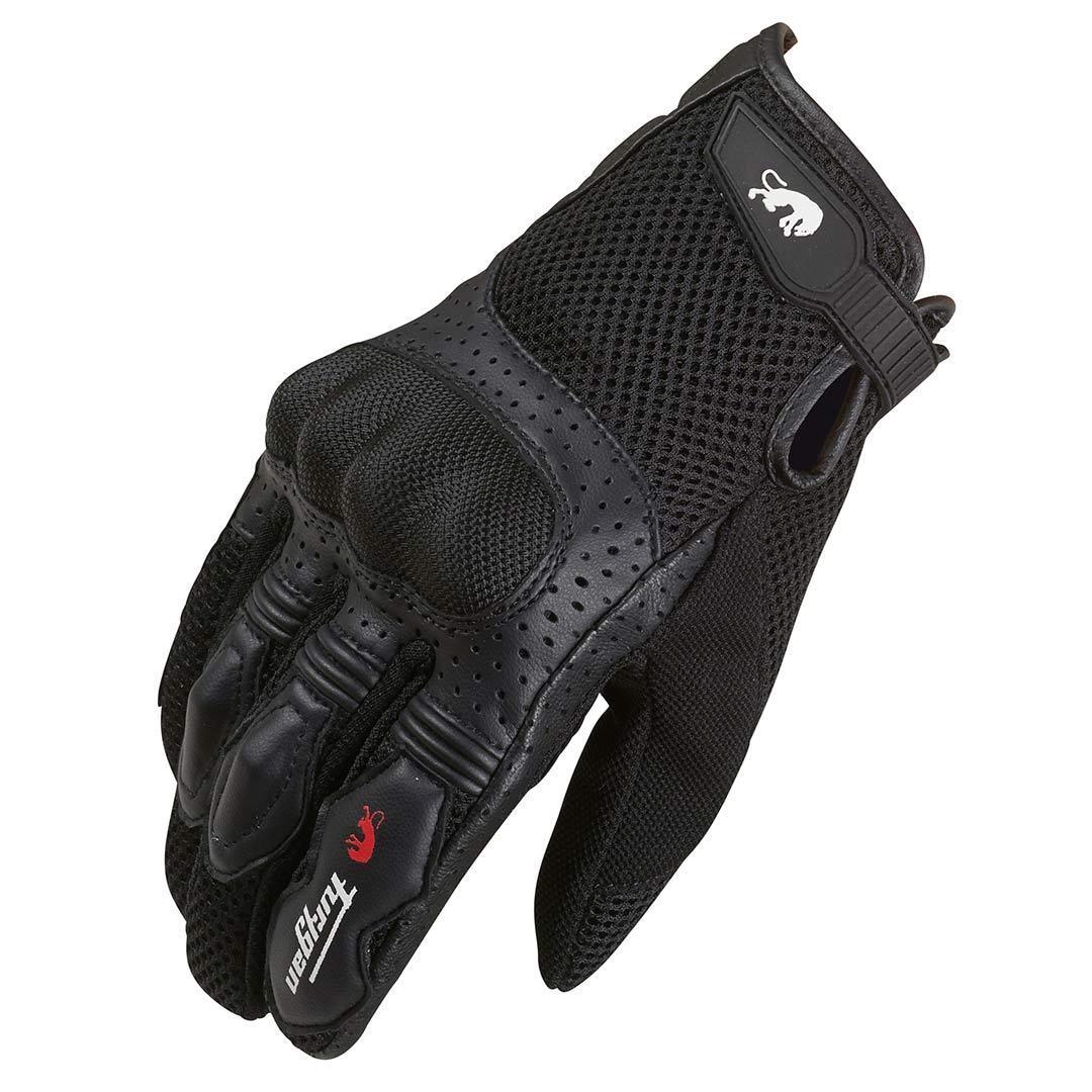 Furygan TD12 Motorradhandschuhe, schwarz, Größe 2XL, schwarz, Größe 2XL