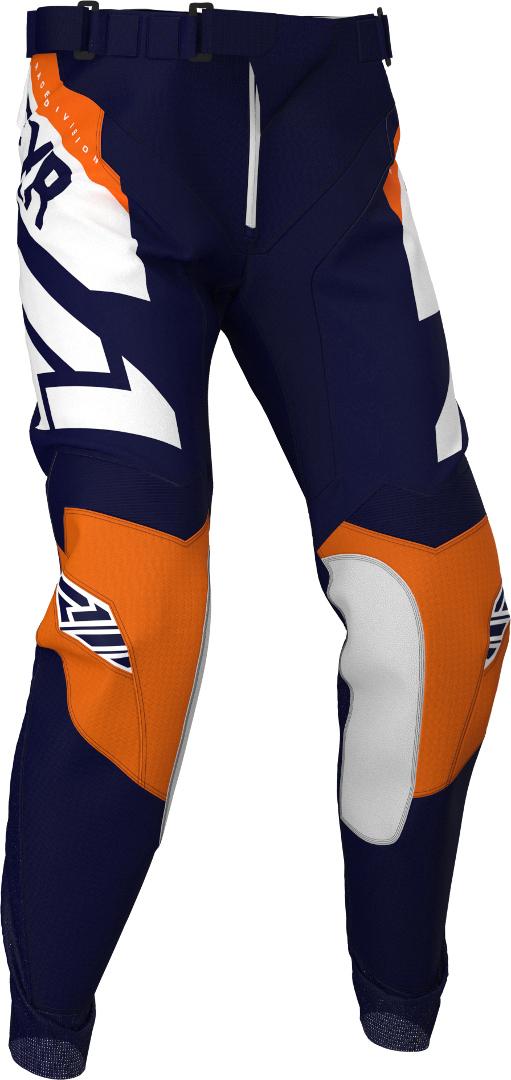 FXR Clutch Jugend Motocross Hose, blau-orange, Größe 26, blau-orange, Größe 26